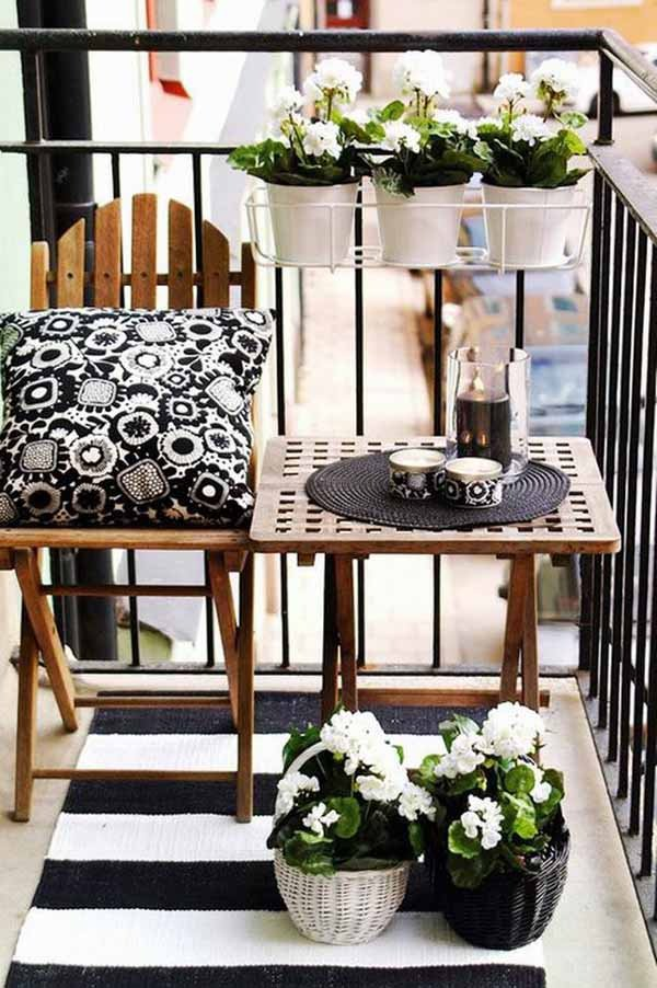 Small balcony design ideas for relaxation