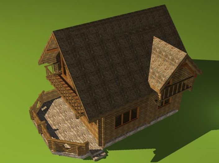 Romanian wooden houses very practical