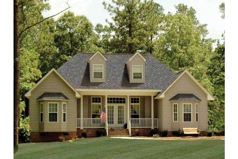 Superior Country Style Home Designs U2013 The 1,380 Square Feet Home