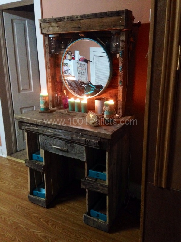 Diy projects with wooden pallets 10 ideas easy to carry out for Diy wood vanity