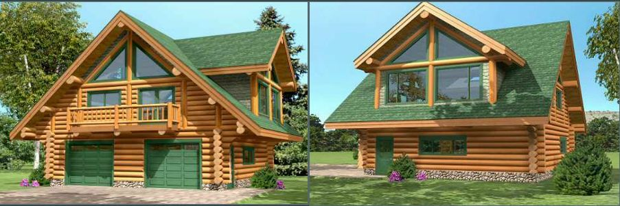 Proiecte de case din lemn rotund Log homes plans and designs 13