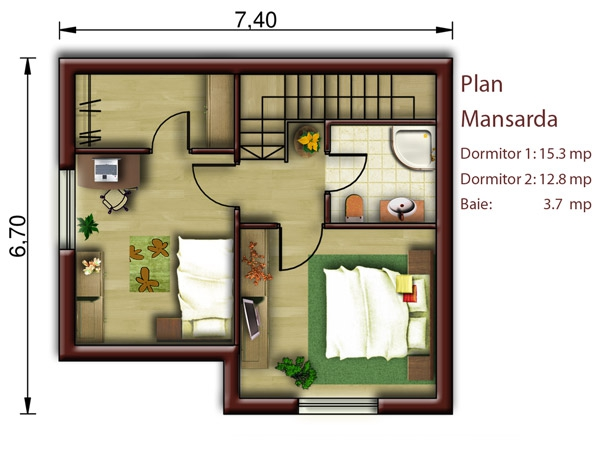 Small attic house plans for low budgets