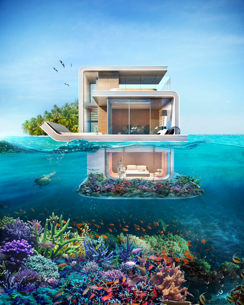 The floating homes of Dubai