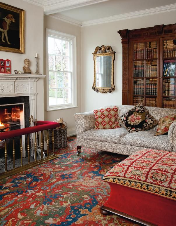 English style interior design at home