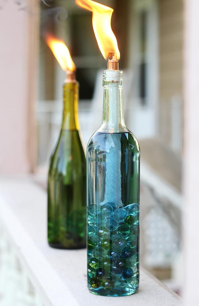 creative ideas to reuse wine bottles