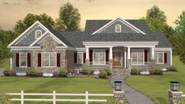 One story craftsman house plans in America