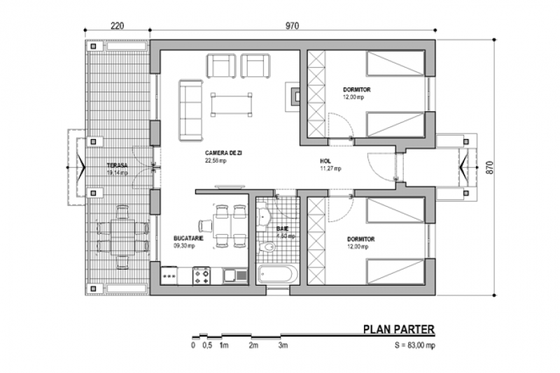 House plans for a family of three in the city