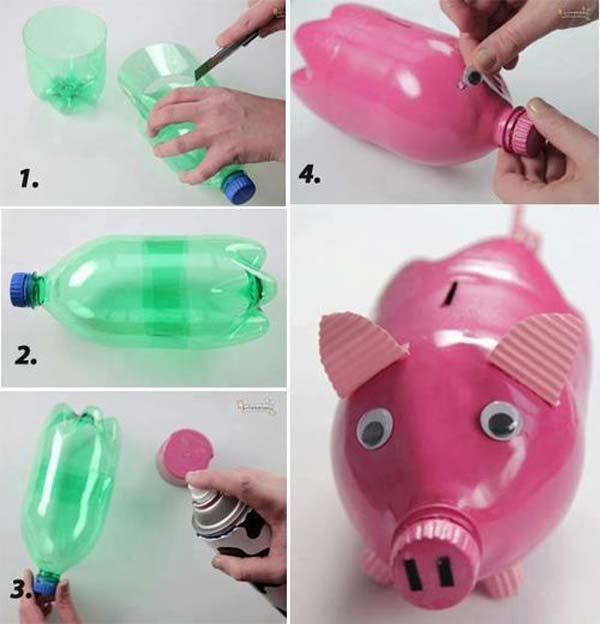 DIY projects using plastic bottles at home