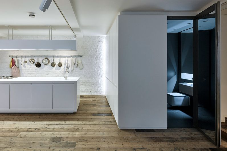 The home in the loft in London