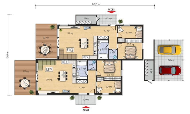 best duplex house plans space for the whole family