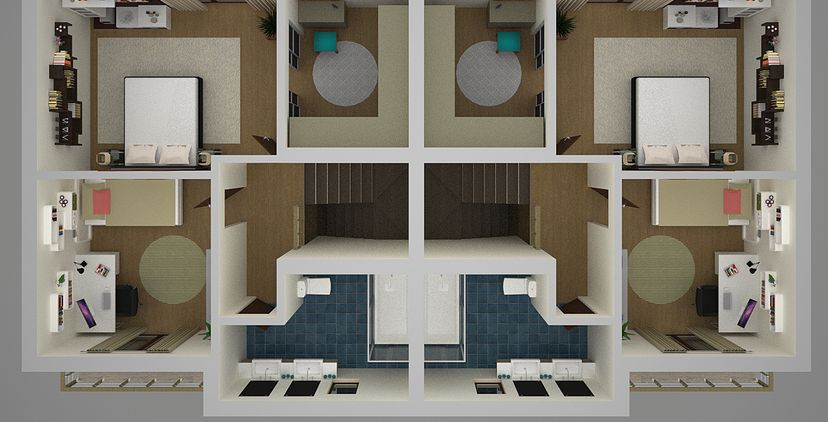 One Story Duplex Plans Patio Home Trend Home Design And