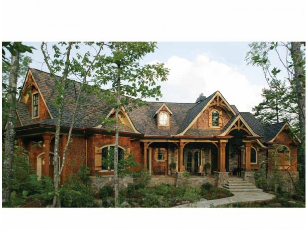 Mountain home plans with walkout basement for Log homes with basement floor plans