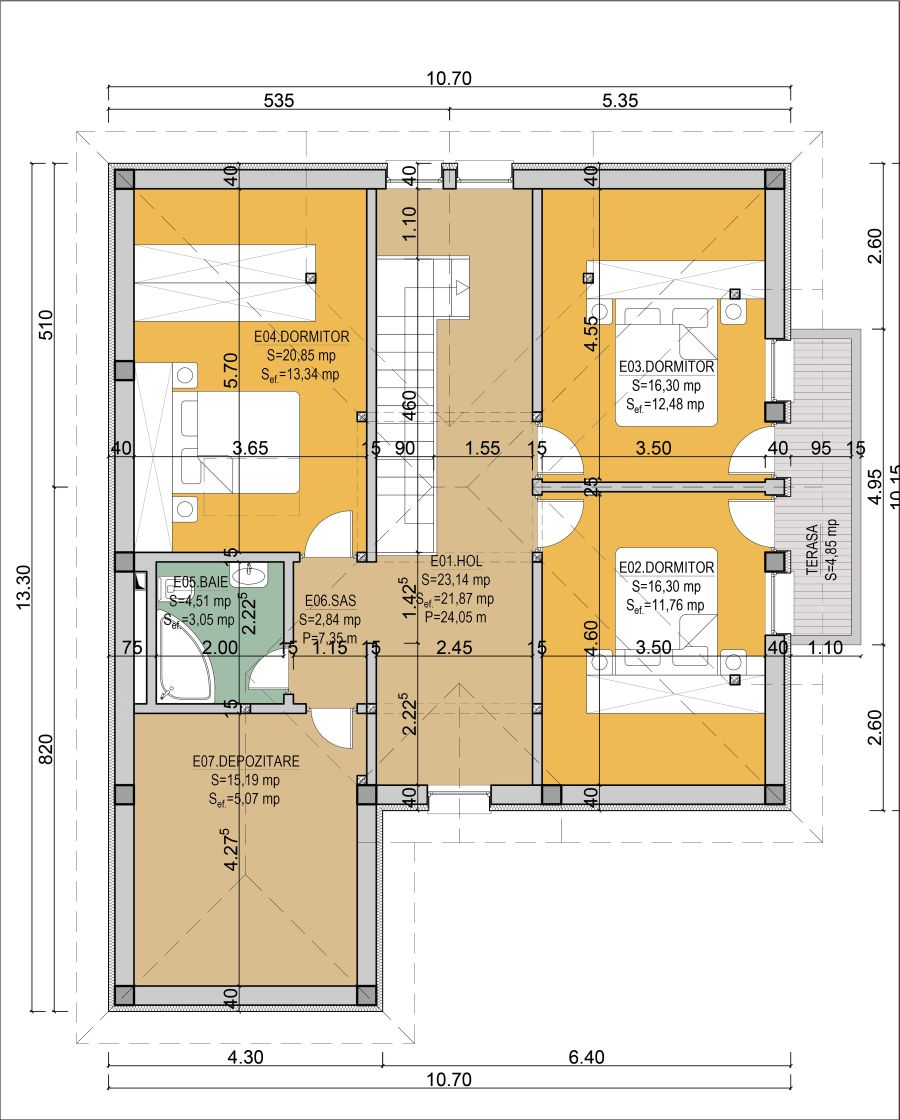 Mountain home plans with walkout basement for Case cu terase