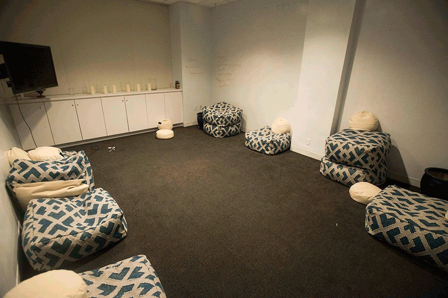 Meditative space at home