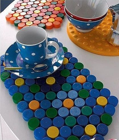 Ce poti face cu dopurile de plastic de la PET-uri plastic bottle caps crafts ideas 10