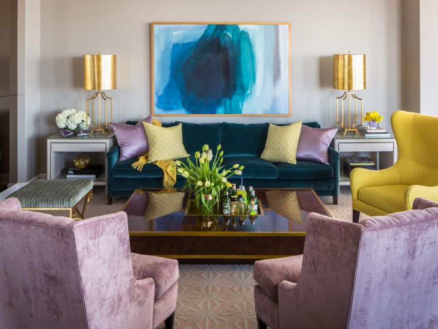 Interior design color trends in 2015 are chic