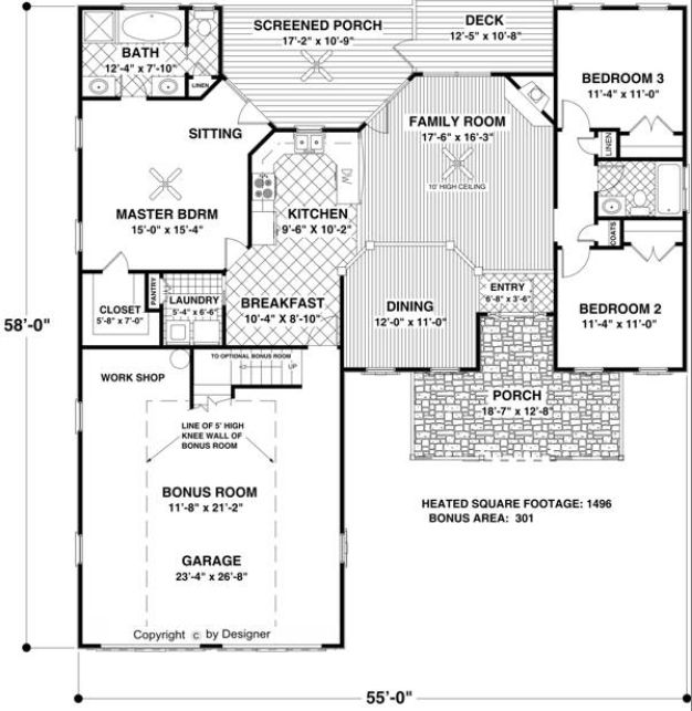 Large Kitchen House Plans Ranch House Plans With Large Kitchens