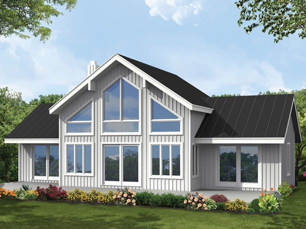 Living Rooms With Big Windows >> Big window house plans