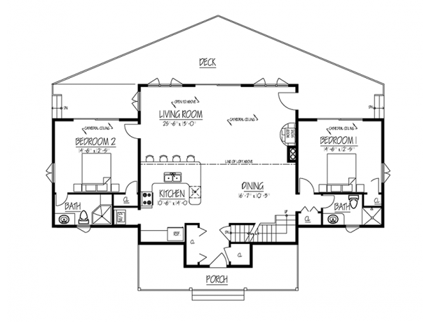 big window house plans