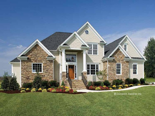 French style house plans pastoral elegance for Stone house floor plans