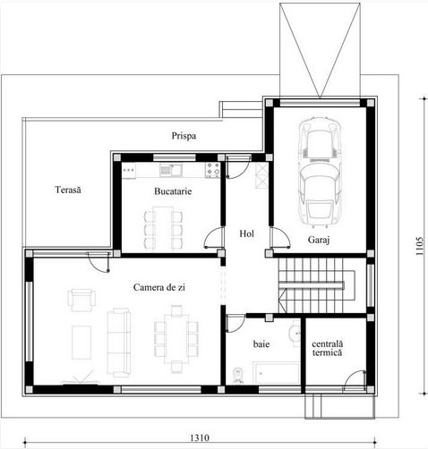 Neo romanian architecture functional house plans for Functional floor plans