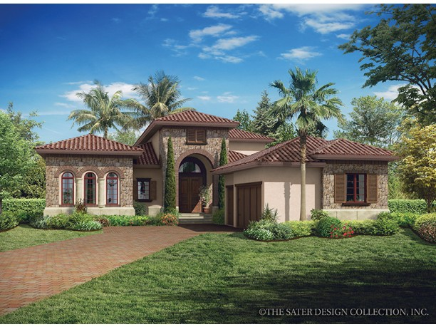 Italian style house plans mediterranean refinement for Small tuscan style house plans
