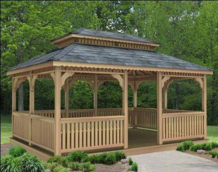 How to build a gazebo from wood for Gazebo cost to build