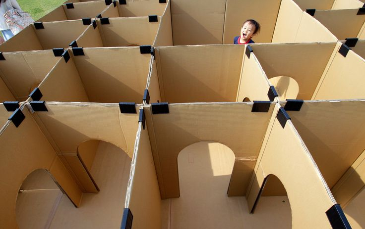 DIY projects with a cardboard box at home