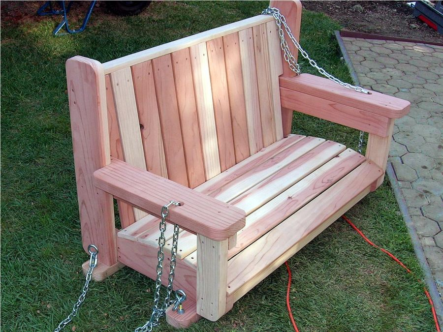 Wooden garden swing seat plans perfect tranquility for Building a wooden swing