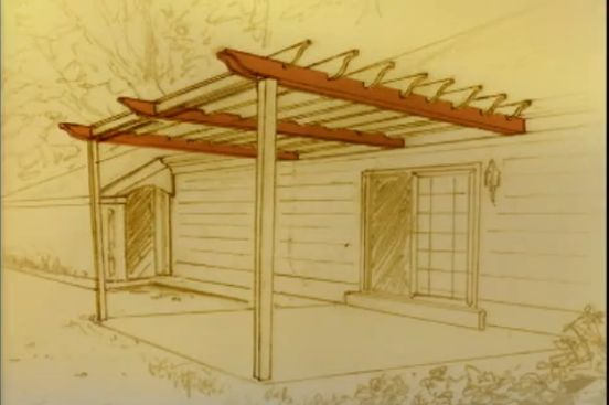 constructia unei pergole How to build a pergola over a concrete patio 4