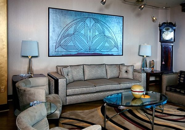 Interior design ideas art deco style geometry and colors for Art deco interior design elements
