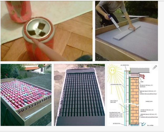 how to make a solar panel out of soda cans