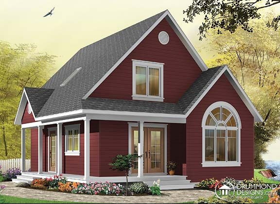 Two entrance house plans for the family
