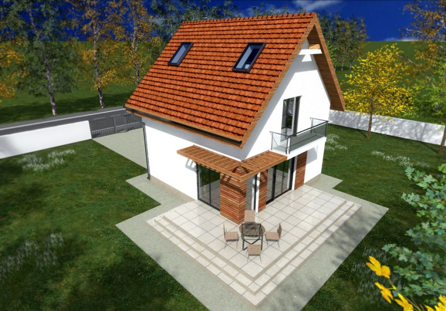 Tiny one story house plans spacious little homes for Modele case mici cu mansarda