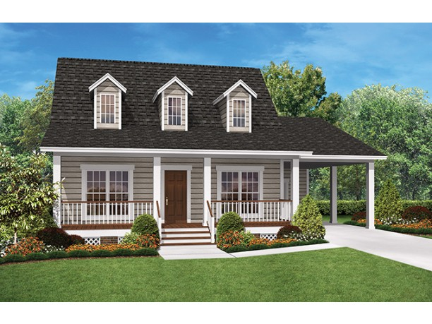 Tiny one story house plans spacious little homes for Single story tiny house plans