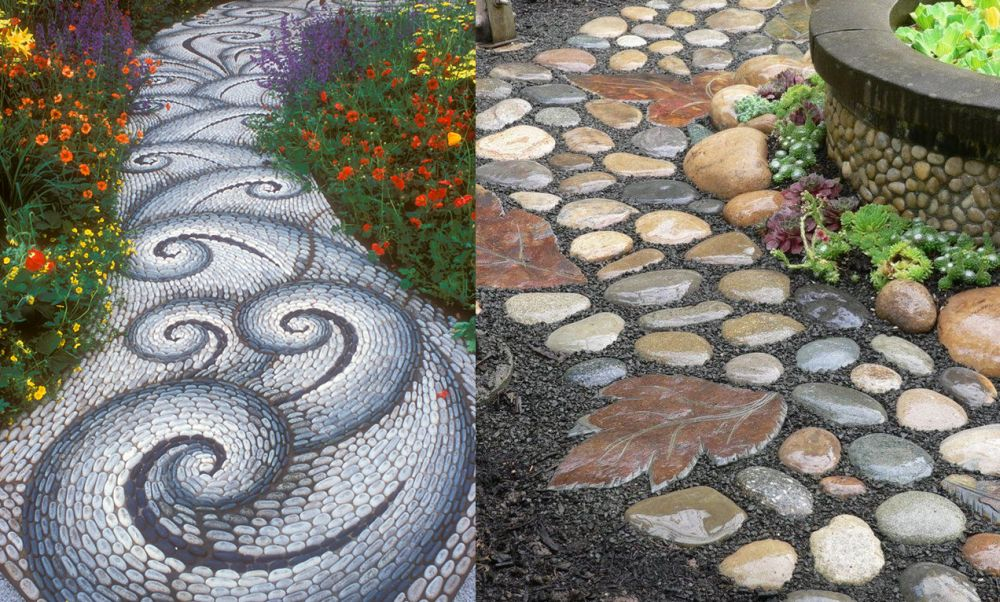 Rustic Garden Stepping Stone Ideas