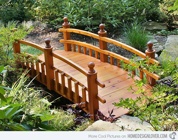 How to build a garden bridge with an arch in easy steps