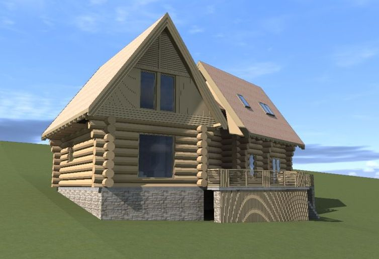 Modele de case din lemn si piatra wood and rock house plans 5