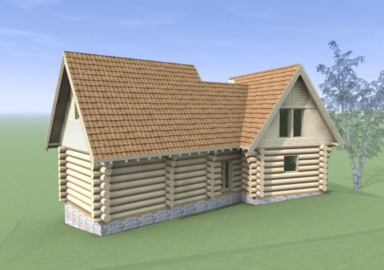 Modele de case din lemn si piatra wood and rock house plans 6