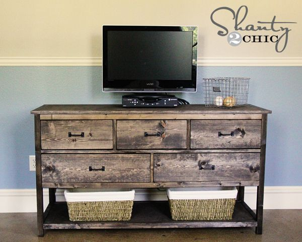 Reclaimed wood TV stand ideas at home