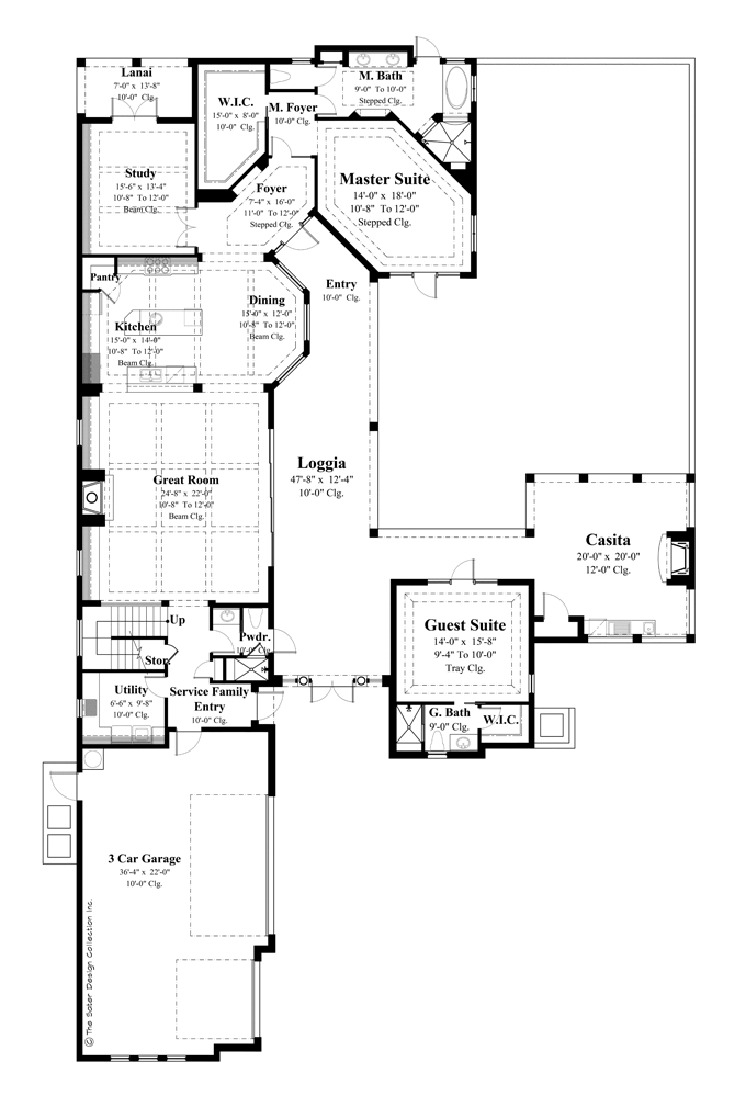courtyard style house plans style house plans design 16992