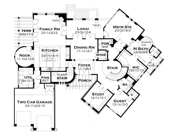 spanish style floor plans style house plans design 22113