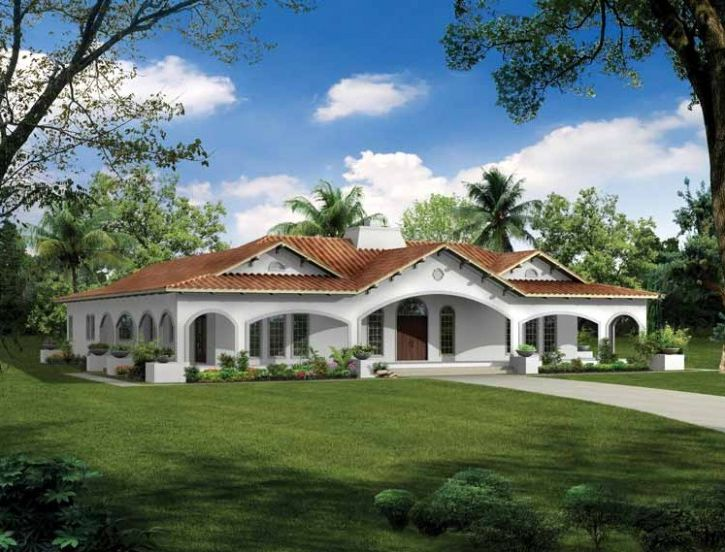 U shaped house plans with courtyard more intimacy for House plans with wrap around porch and pool
