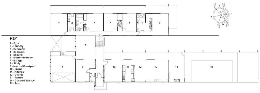 U shaped house plans with courtyard home design and style for U shaped home plans with courtyard