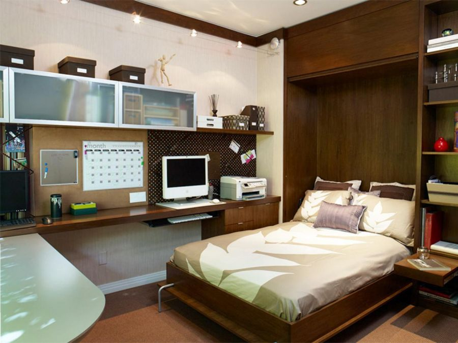 Interior design for small bedroom ideas for Murphy bed interior design
