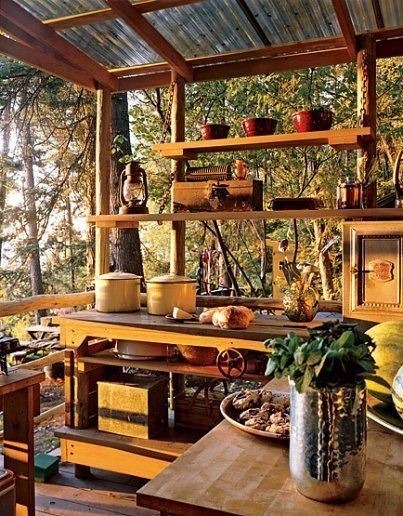 Rustic Small Kitchen Design Ideas ~ Rustic outdoor kitchen designs