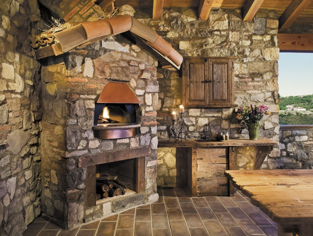 Rustic outdoor kitchen designs are functional