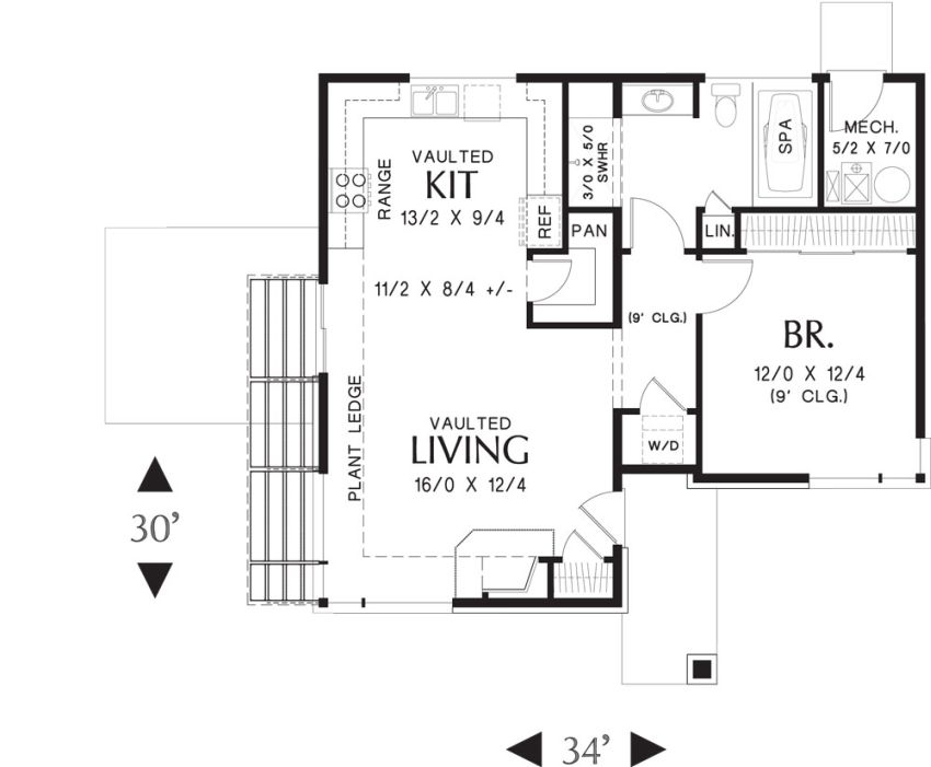 Terrific Single Story Modern House Plans Largest Home Design Picture Inspirations Pitcheantrous