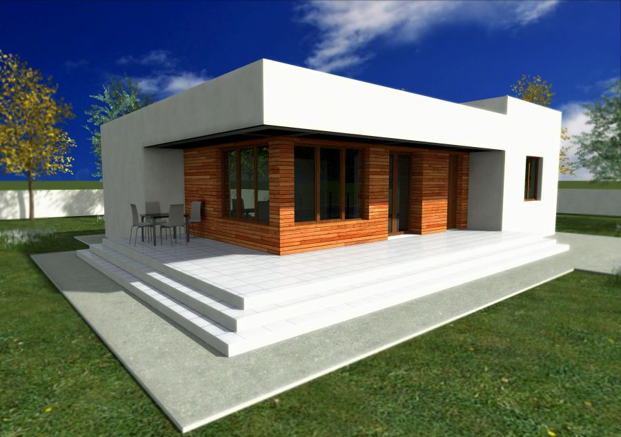 Small modern house plans flat roof for Contemporary home plans 2015