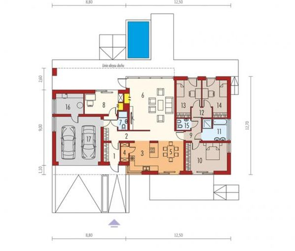 cele mai frumoase case fara etaj Single story modern house plans 7
